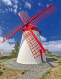 Old windmill Red Peak Mill in Bretanha Sao Miguel, Azores