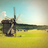 Old windmill retro style Royalty Free Stock Photography