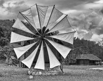 Old windmill Romania Stock Photo