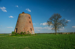 Old windmill ruins stock photos