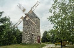 Old windmill of Saint-Grégoire stock photos