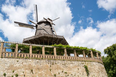Old Windmill in Sanssouci Park, Potsdam, Germany, Europe Royalty Free Stock Photos