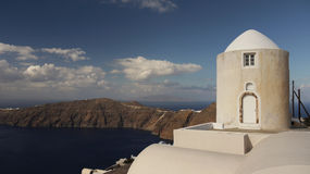 Old windmill on Santorini Royalty Free Stock Photos