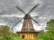 Old windmill shoot in HDR Stock Photography