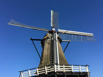 Old windmill in Sloten Stock Photography