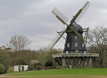 Old Windmill `Slottsmollan` in the Kungsparken Park. In Malmo, Sweden Royalty Free Stock Photos