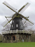 Old Windmill `Slottsmollan` in the Kungsparken Park. In Malmo, Sweden Royalty Free Stock Images