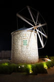 Old Windmill of Stone in the Night Stock Images