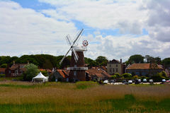 Old Windmill in summer, Cley Windmill, Cley-next-the-Sea, Holt, Norfolk, United Kingdom Royalty Free Stock Image