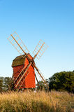 Old windmill in Sweden Stock Image