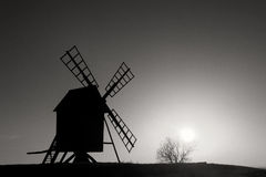 Old windmill Sweden Stock Images