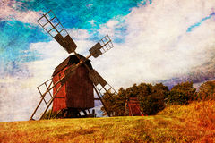 Old windmill in Sweden Royalty Free Stock Images