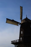 Old windmill in Swedish countrycide, Province of Skane. Old windmill in Swedish countrycide in province of Skane Royalty Free Stock Photography