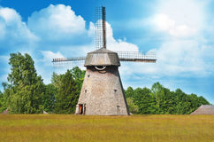 Old Windmill, 19th century, Lithuania Royalty Free Stock Photos