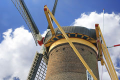 Old windmill in the town of Gorinchem. Royalty Free Stock Image