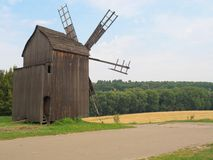 Old windmill in the Ukrainian village,Kiev. Royalty Free Stock Photo