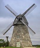 Old windmill in village of Araishi, Latvia, Europe Stock Photography