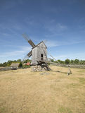 Old windmill in the village, Estonia Stock Photography