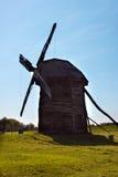 Old windmill in the village, Pirogovo, Ukraine. Stock Photo