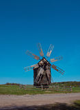 Old windmill in the village, Pirogovo, Ukraine. Stock Photography