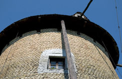 Old windmill window Royalty Free Stock Images