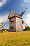 Old windmill. Old wooden windmill, typical for Polish countryside Royalty Free Stock Photo