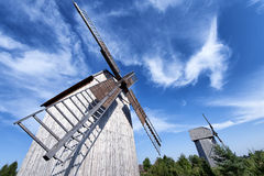 Old windmill. Old wooden windmill, typical for Polish countryside Royalty Free Stock Images