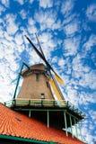 Old windmill in Zaandam, Netherlands Stock Image