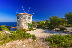 Old windmill on Zakynthos island Royalty Free Stock Images
