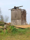 Old windmill, Zawadowka, Poland. The dilapidated windmill in the village of Zawadowka, Poland Stock Photos