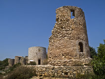 Old Windmills. Ancient windmills located in Spain Stock Photography