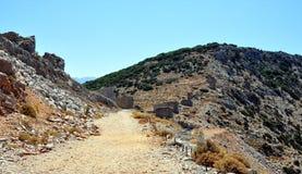 Old windmills, Crete, Greece, Europe Stock Photography