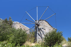 Old windmills at Crete island, Greece Royalty Free Stock Images