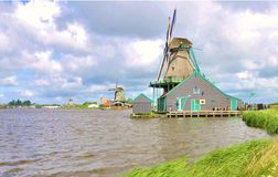 Old Windmills of Holland Royalty Free Stock Image