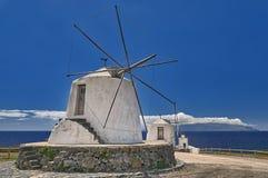 Old windmills at island Corvo Azores