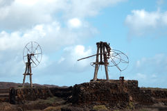 Old Windmills on Lanzarote Royalty Free Stock Image