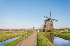 Old windmills in the Netherlands Royalty Free Stock Image