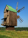 Old windmills in Pirogovo, Ukraine Stock Photos