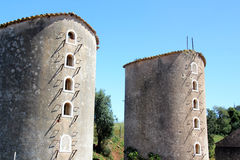 Old Windmills in Portugal Royalty Free Stock Photography