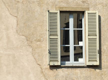Old window. Old, decorative window in an Italian town Stock Photos