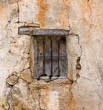 The old window. An old window of a rustic house Royalty Free Stock Photo