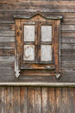 Old window. Old closed wooden dirty window Royalty Free Stock Images