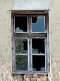 An old window. An old ruined window Royalty Free Stock Image