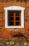 Old window. On rustical house Stock Photography