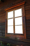 Old window. On old house with paths in window Royalty Free Stock Photos