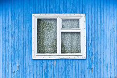Old Window. Of a blue house Royalty Free Stock Photo
