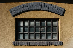Old window. Bricks added, good sun light Royalty Free Stock Photography