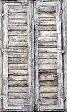 Old window. An old Greek window, close up Stock Photo