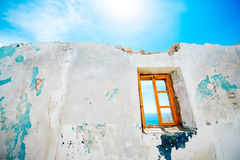 Old window in abandoned house Stock Photography