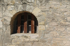 Old window at the Alamo Stock Photography